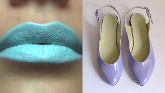 Blue Lips and Purple Shoes