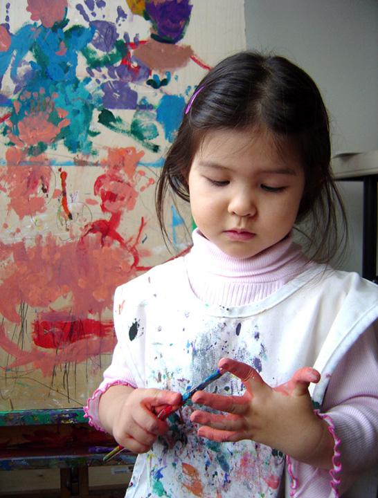 abstract child painter Misheel