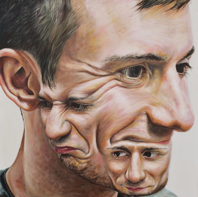 Carl Beazley Painting Portrait