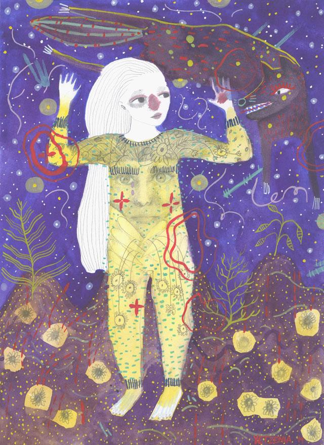 Illustration by artist, Yetzenia Levia