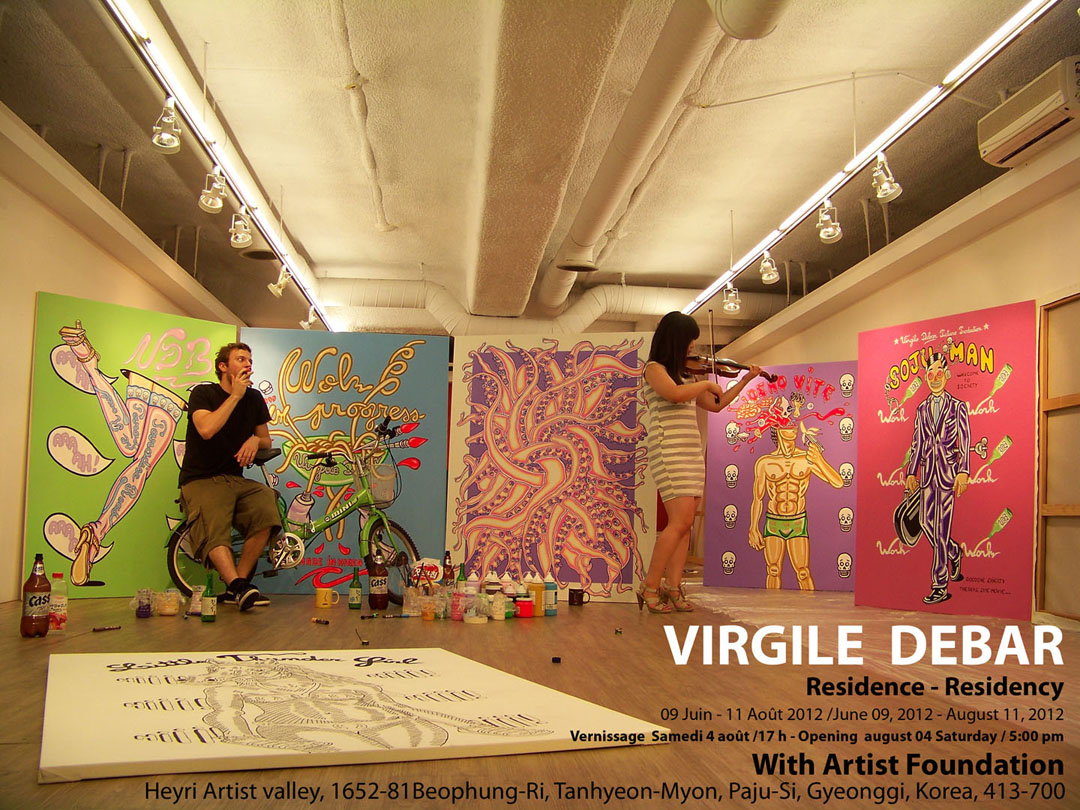 Interview with artist, Virgile Debar on Jung Katz Art Blog