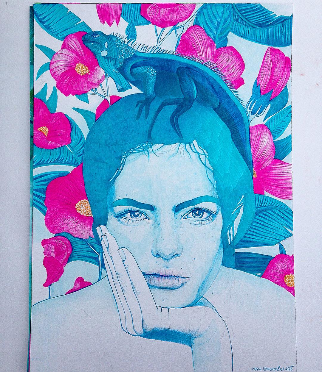 Interview with illustrator/Artist Kasia on Jung Katz Art Blog