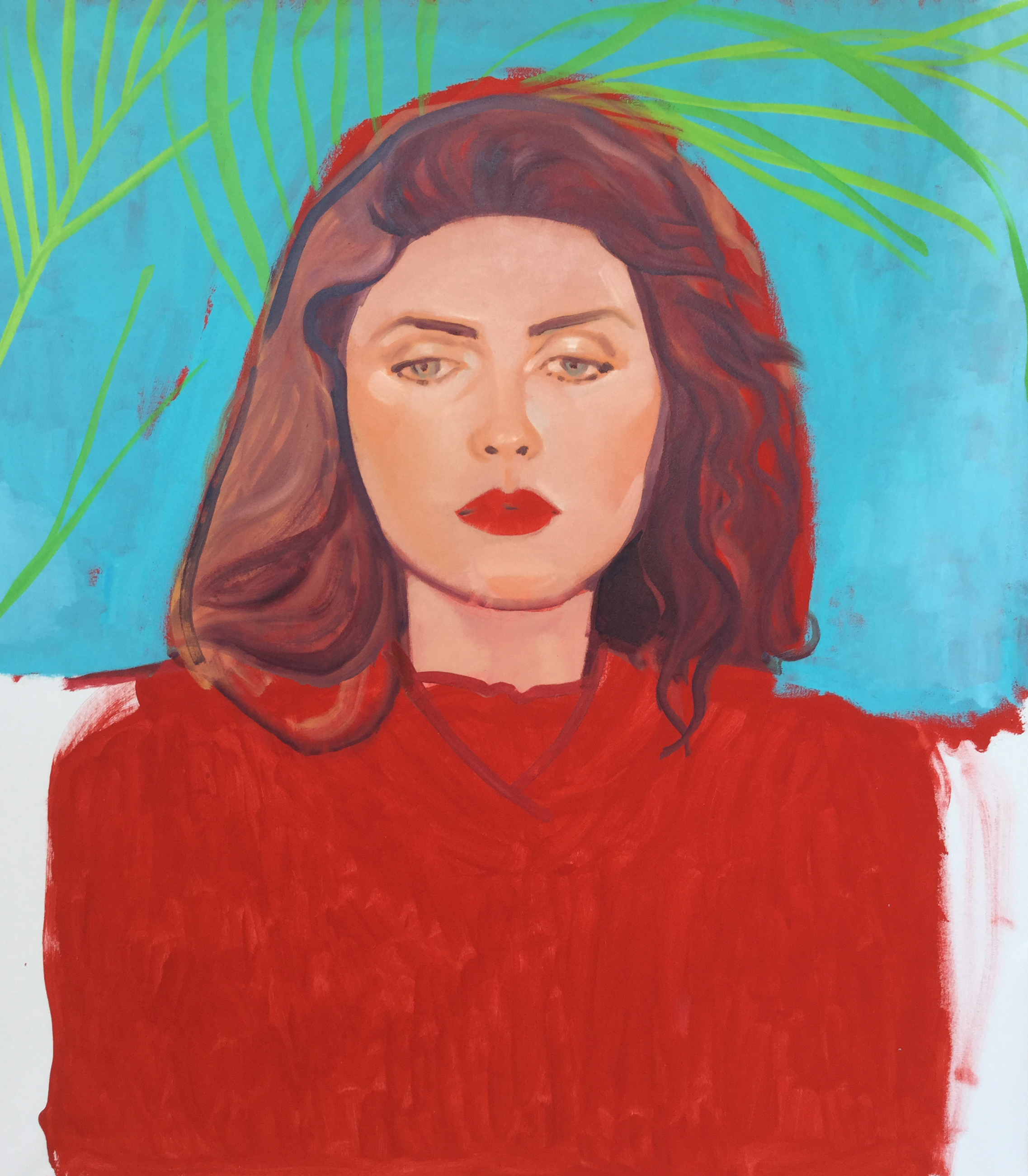 Colorful and Feminine Painted Portraits by Artist, Marina Taleb on Jung Katz Art Blog