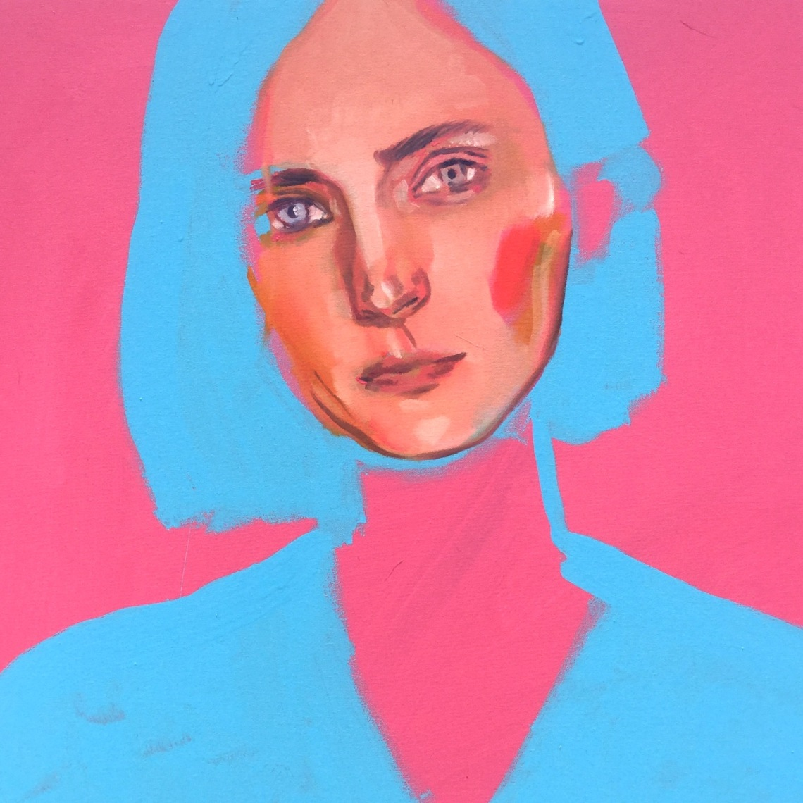 Colorful and Feminine Painted Portraits by Artist, Marina Taleb on Jung Katz Art Blog